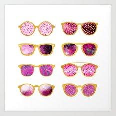 Vintage sunglasses Art Print