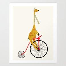 the high wheeler Art Print