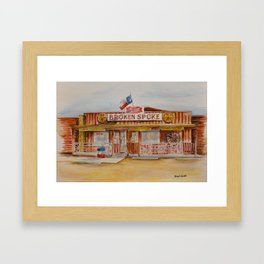 The Broken Spoke - Austin's Legendary Honky-Tonk Watercolor Painting Framed Art Print