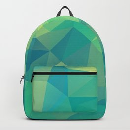 Polygon mosaic abstract triangles background in grue Backpack