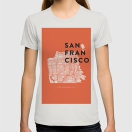 San Francisco Map 04 T-shirt