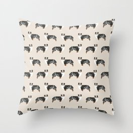 Australian Shepherd owners dog breed cute herding dogs aussie dogs animal pet portrait hearts Throw Pillow