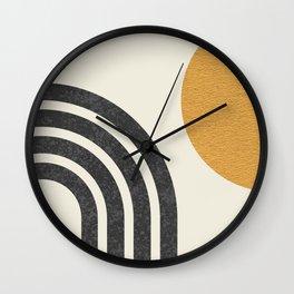 Mid century modern Sun & Rainbow Wall Clock
