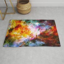 nebula space universe Rug