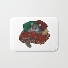 Wilbur the fat dormouse Bath Mat