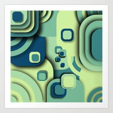 Turquoise composition Art Print