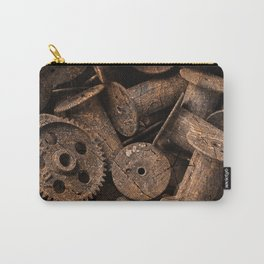 Cracked Wood Bobbins Carry-All Pouch