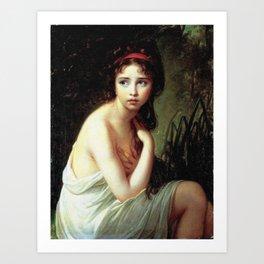Louise Élisabeth Vigée Le Brun - Julie Le Brun as a Bather Art Print