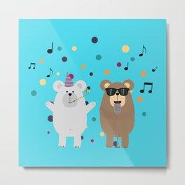 Party Bears Metal Print