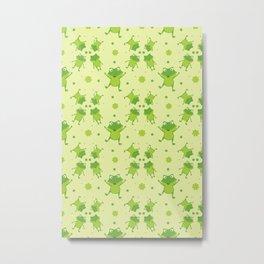 Super cute frogs pattern Metal Print