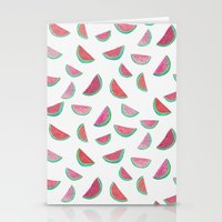 watermelon Stationery Cards featuring Watermelon by Abby Galloway