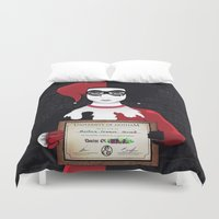 harley quinn Duvet Covers featuring Harley Quinn by freefallflow