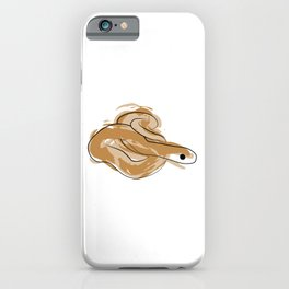 Line snake with paint spots iPhone Case