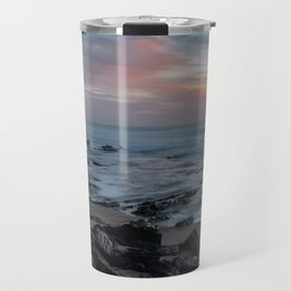 Beutiful sunset with rocks Travel Mug