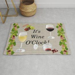 It's Wine O'Clock Rug