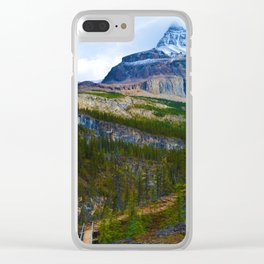 Highest Mountain in the Canadian Rockies; Mount Robson Clear iPhone Case