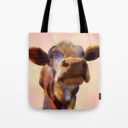 Cora the cow, cow art, cow, farm, animal Tote Bag