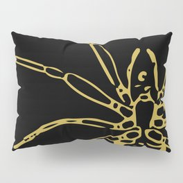 Spooky Spider, Gold and Black (Halloween Set) Pillow Sham