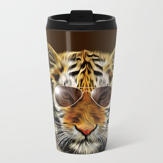 In the Eye of the Tiger Metal Travel Mug