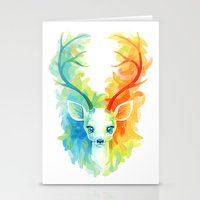 feather Stationery Cards featuring Feather Fawn by Freeminds