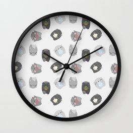 Neko Critters Wall Clock