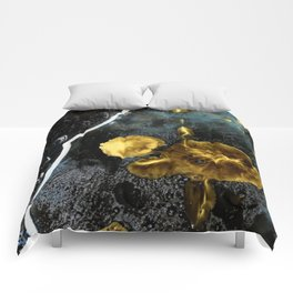 gold dark matter Comforters
