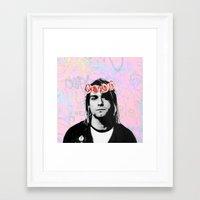 kurt rahn Framed Art Prints featuring Kurt..  by pinkundaztood