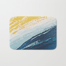 SUNRISE BEACH | Acrylic abstract art by Natalie Burnett Art Bath Mat