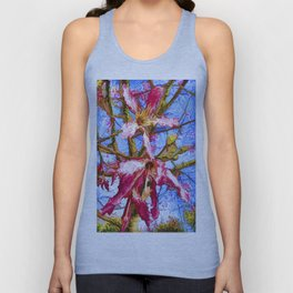 Tropical Flowers Design  Unisex Tank Top