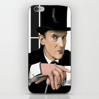 sherlock holmes iPhone & iPod Skins featuring Sherlock Holmes by Andy Harrison