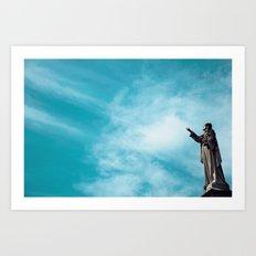 Sky/Statue#1 Art Print