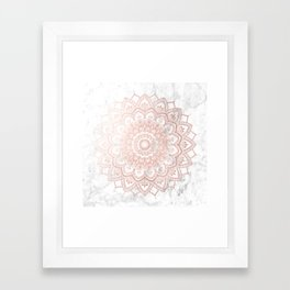 Pleasure Rose Gold Framed Art Print