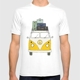 Car yellow T-shirt