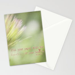 The Breathings Of Your Heart - Inspirational Art Stationery Cards