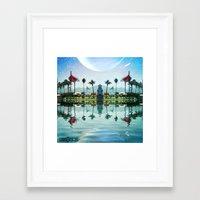 coachella Framed Art Prints featuring Coachella Oasis by Osojack