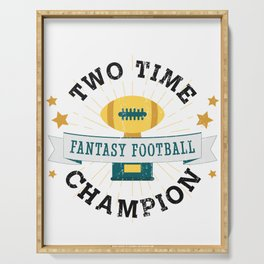 Two Time Champion Fantasy Football Serving Tray