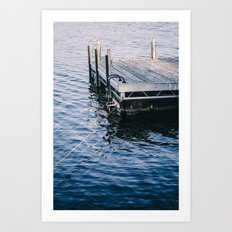 Lake Indigo Art Print