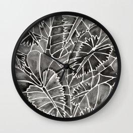 Schismatoglottis Calyptrata – Black Palette Wall Clock