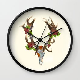 The Red Stag Wall Clock