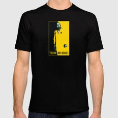 The One Who Knocks MEDIUM Mens Fitted Tee Black