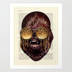CHEWBACCA Walking Carpet - Star Wars Art Print