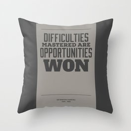 Difficulties Throw Pillow