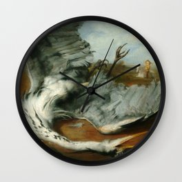 The wounded heron -  George Frederic Watts Wall Clock