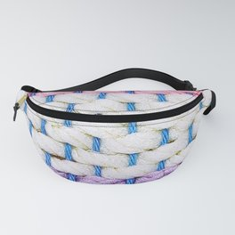 Weaving Pink White and Violet Fanny Pack