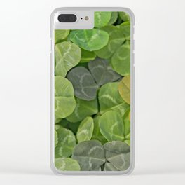 Multicoloured leaves with patterns Clear iPhone Case