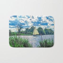 Sailing The River Bath Mat