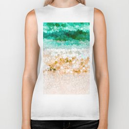 On the beach abstract painting Biker Tank