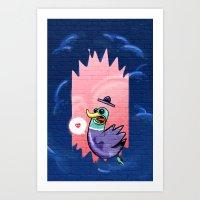 Duck It! Art Print
