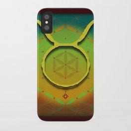 Flower of Life TAURUS Astrology Design iPhone Case