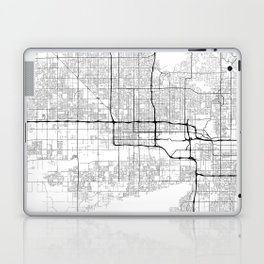 Minimal City Maps - Map Of Phoenix, Arizona, United States Laptop & iPad Skin